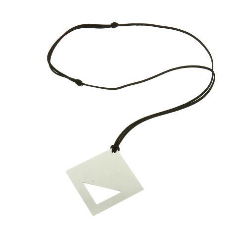 Lange Damen-Halskette mit Anhänger aus Edelstahl, LILOYA