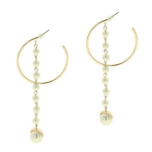 Boucles d'oreilles longues à perles MARGUERITE