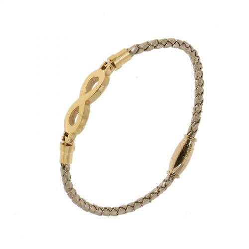 Bracelet femme en acier inoxydable à strass SIENNA