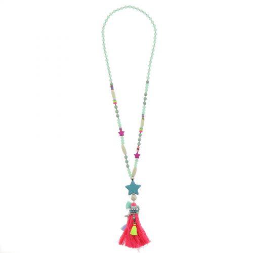 Bohemian Perlen Langen Damen-Halskette mit Quaste und Stern, HAUDE