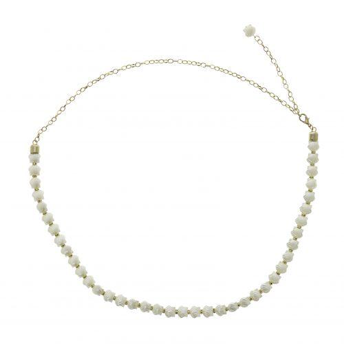 Ceinture chaîne coquillage plaqtique pour femme ROSETTA
