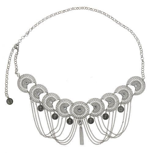 Ceinture chaîne pendantes à strass pour femme , ESTELA