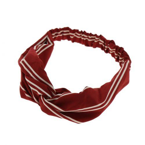 Bandeaux élastique torsadé imprimé rayure