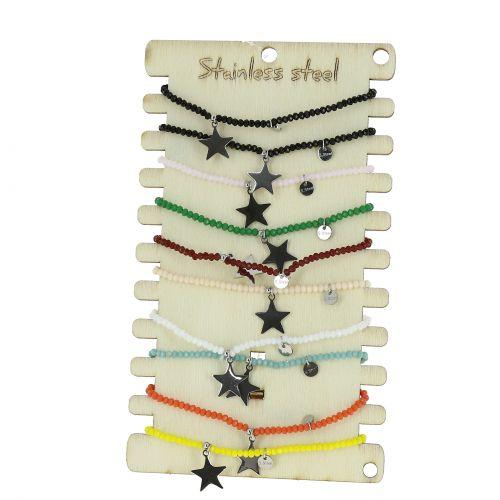 10 x elastische Anker Armbänder, Edelstahl