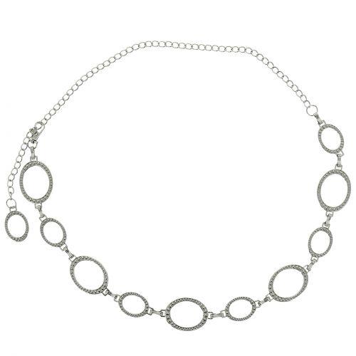 cinturón de eslabones, metal, cadenas, ajustable, cinturón de cadenas para mujer, LAURRAINE