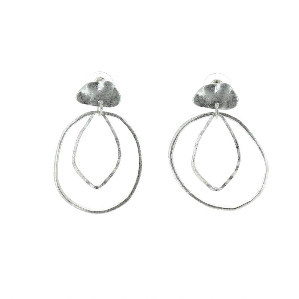 Boucles d'oreilles femme à anneaux, PATSY