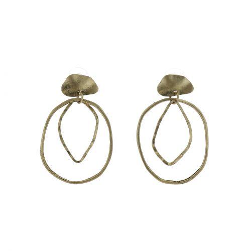 Boucles d'oreilles femme en Cuivre à anneaux, PATSY