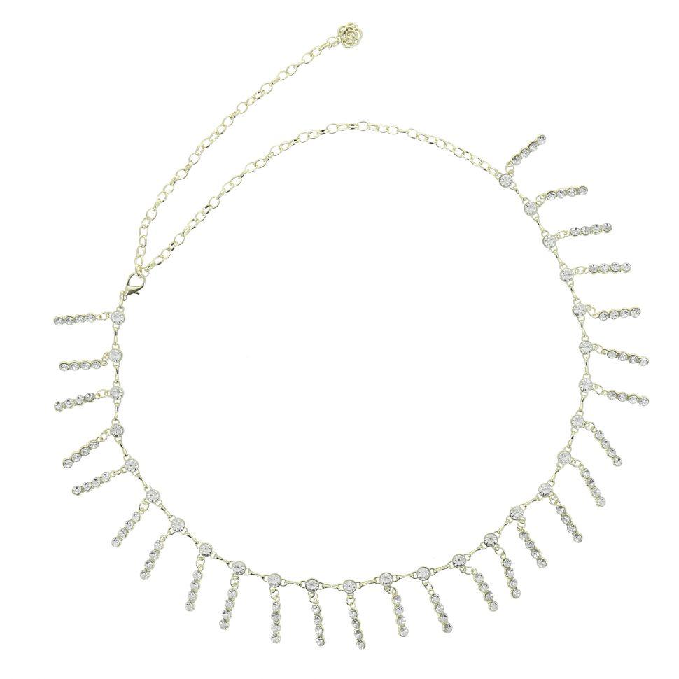 Ceinture chaîne pendantes à strass pour femme, taille réglable SALLY