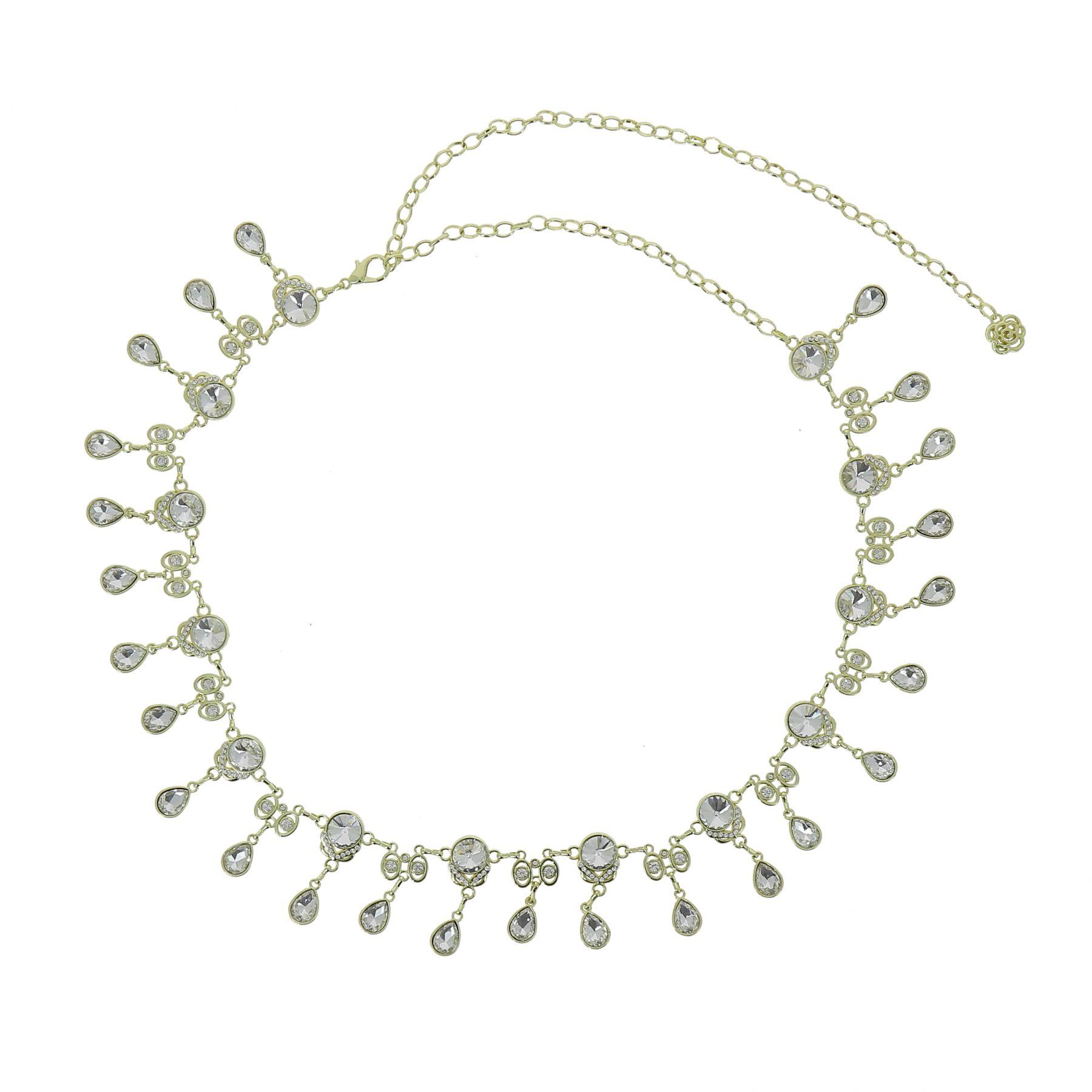 Ceinture chaîne pendantes à strass pour femme, taille réglable ALMA. Loading  zoom 43a4c753f8f