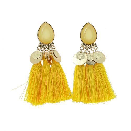 Tassel hanging dangle earring, ELENA