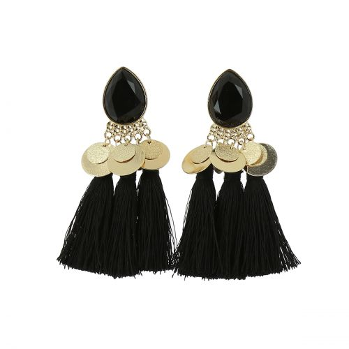 Tassel hanging dangle earring, KRISTIINA