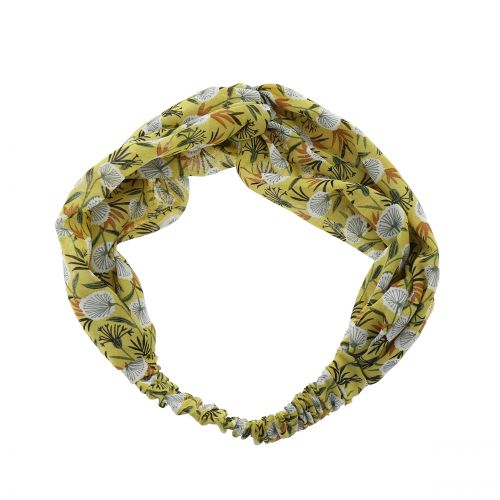 Damen Stirnband, Headband elastische Blume gedruckt KATI