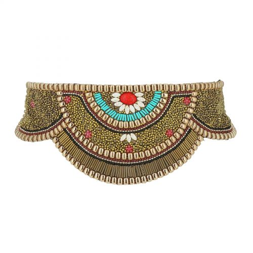 Women'S Fashion Lady Handmade Mosaic Wide Belt, CLARISSE