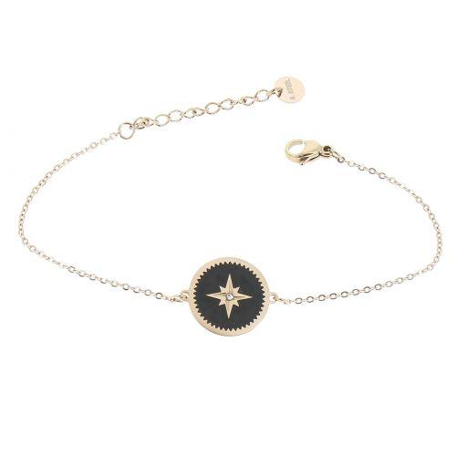 Bracelet femme acier inoxydable à strass adjustable AIMEE