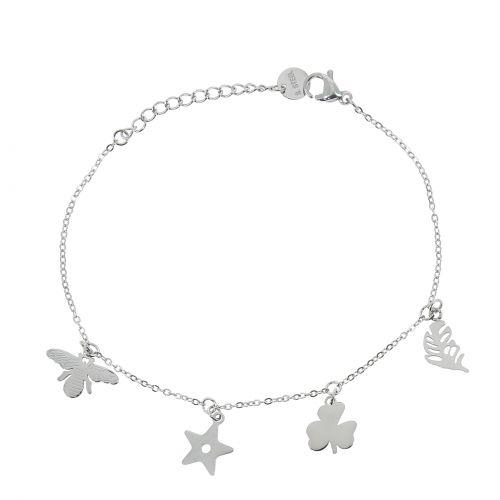 Woman stainless steel bracelet, GENEVIEVE