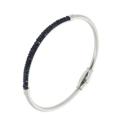 Bracelet en acier inoxydable à strass DEBBIE