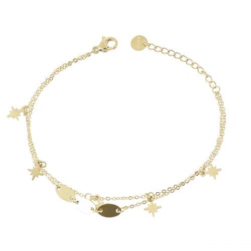 Bracelet femme en acier inoxydable étoiles polaire, KIMBERLY