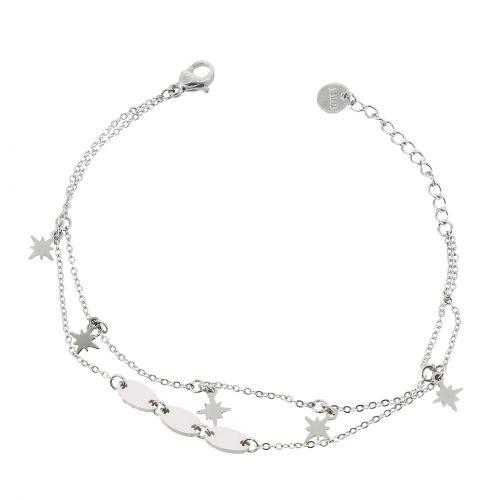 """Bracelet femme """"étoile polaire"""" en acier inoxydable, EMA"""