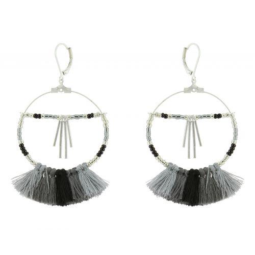 Tassel hanging dangle earring, SHERYL