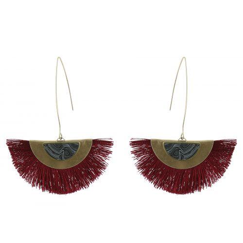 Tassel hanging dangle earring, LANA