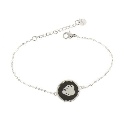 Bracelet femme acier inoxydable adjustable
