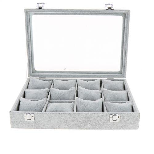Coffret de rangements, Valises, présentoir de bracelets à 12 compartiments