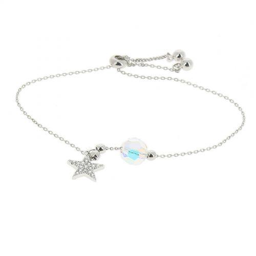 Bracelet femme Cristal de Swarovski acier inoxydable adjustable, TOKE
