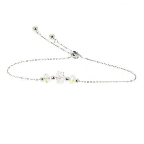 Bracelet femme Cristal de Swarovski acier inoxydable adjustable, AMELIA
