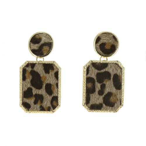 Boucles d'oreilles pendantes panthere