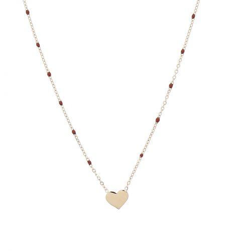 Collier à pendentif à perle coeur ROZA