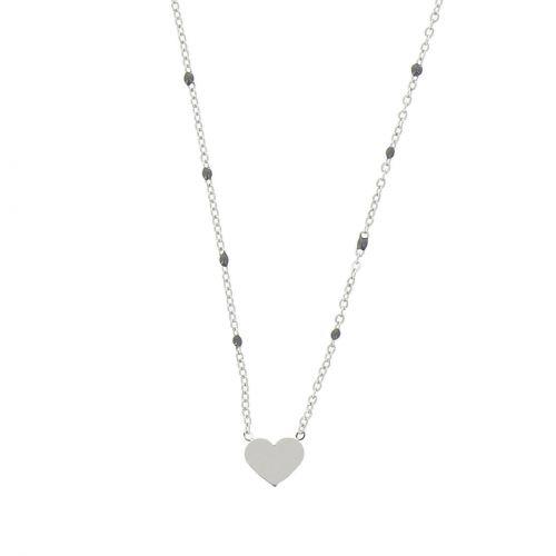 Collier femme, Coeur en strass, XS-2259