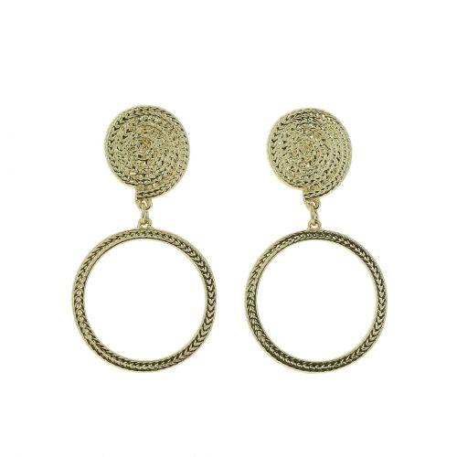 Damen Ohrringe aus Kupfer mit Blättern, MARICELA