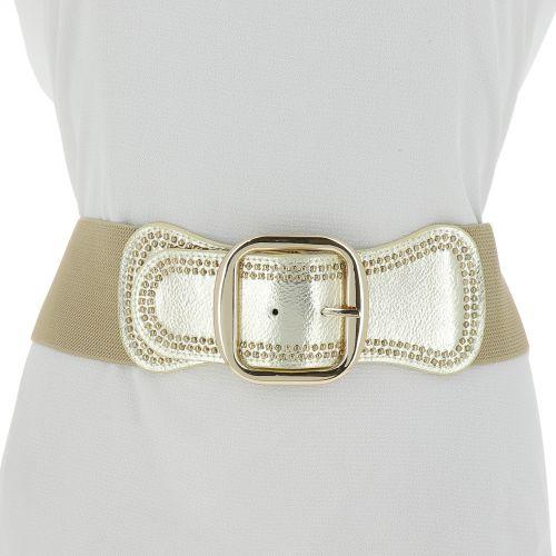 Woman Elastic Large studded waist belt VAITEA