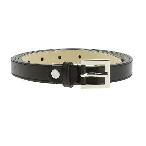 Belt Genuine Italian leather, leather Nubuk lined for women, width 0.75in, LINDA