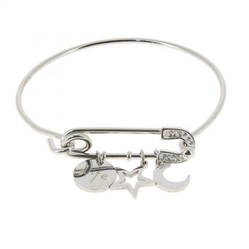 Bracelet femme étoile et lune acier inoxydable adjustable, MITZY