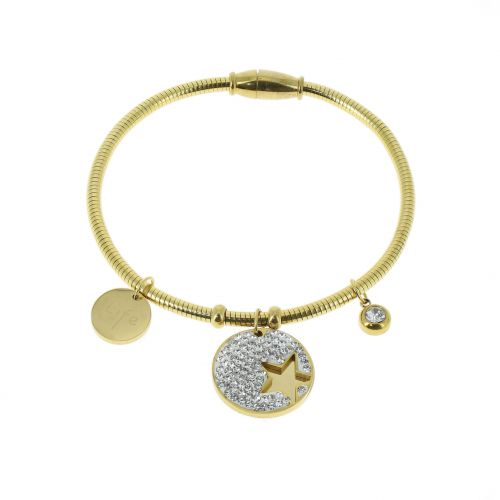 Bracelet femme Strass et étoile acier inoxydable, SHIRLEY