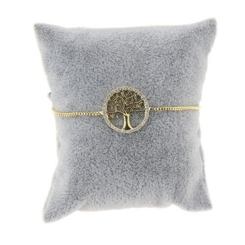 Bracelet femme Arbre de Vie acier inoxydable adjustable, LUCIENNE
