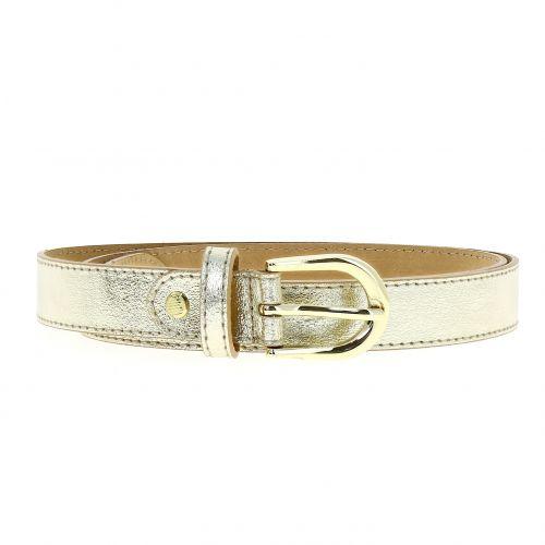 Cinturón de mujer piel con hebilla dorada, HACENA