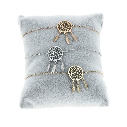 Bracelet femme Attrape rêve acier inoxydable adjustable ELISA