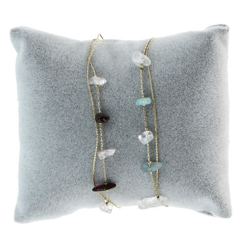 Bracelet femme à pierre naturelle acier inoxydable adjustable MILA