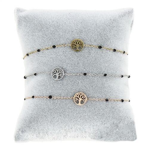 Damen armband aus Edelstahl, Baum des Lebens, KENZA
