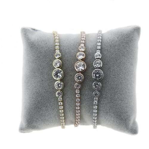 Bracelet femme strass acier inoxydable adjustable LUCILE