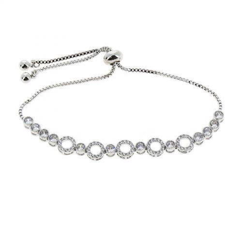 Damen armband aus Edelstahl, Strass und zirconia ELENA