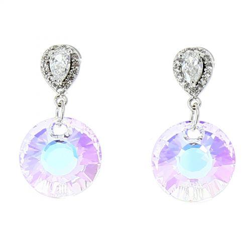 Pendientes de diamantes de imitación de circonio LIZZY