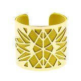 Bracelet manchette métal similicuir ANGELINA