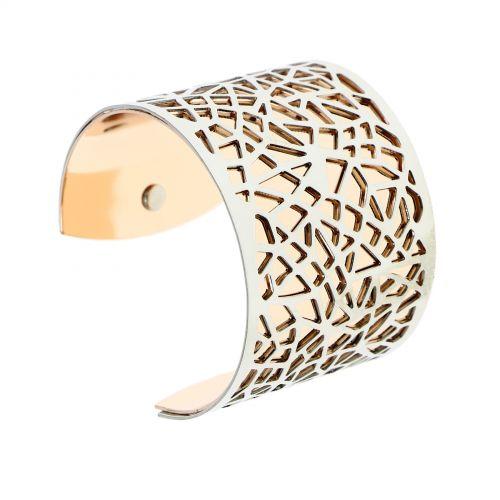 Bracelet femme manchette métal KAOUTAR