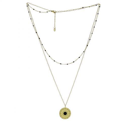 Collier femme acier inoxydable à perle SOFIA