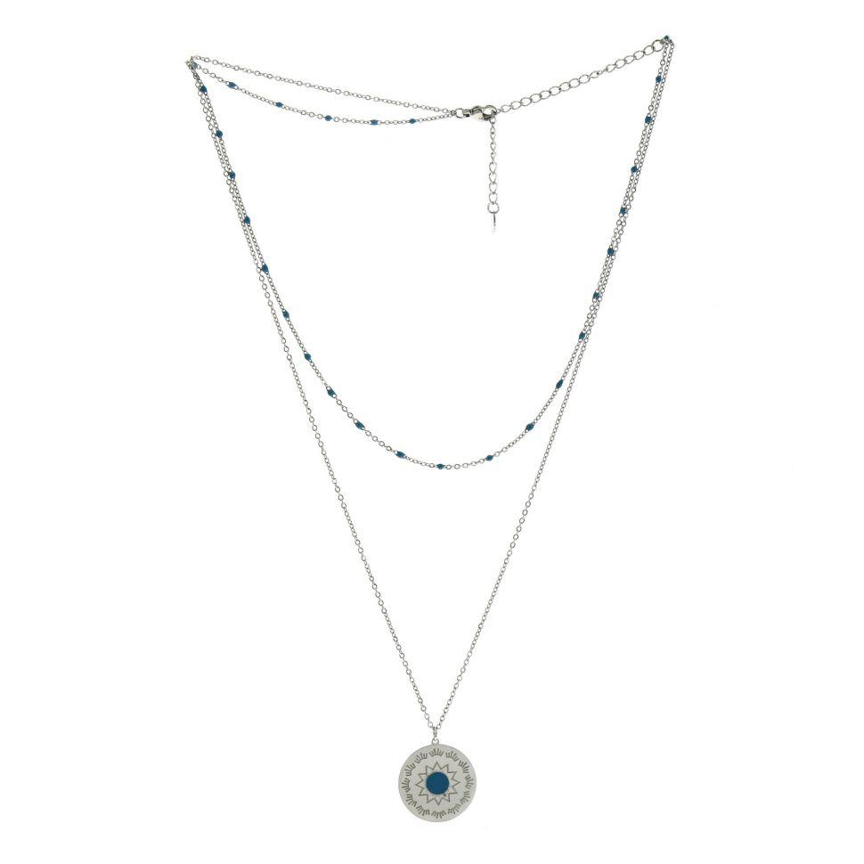 Collier femme acier inoxydable à perle