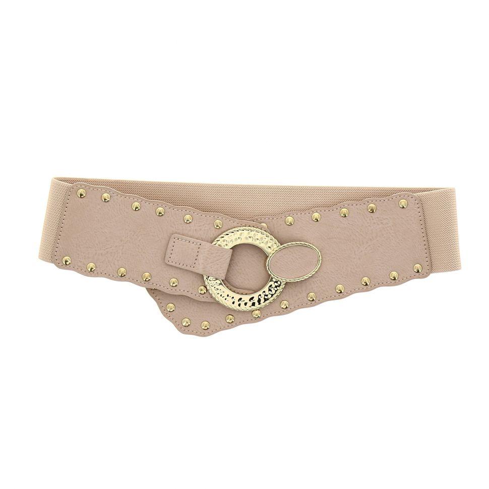 Damen Vintage Rivet elastischer breiter Gürtel VAITEA