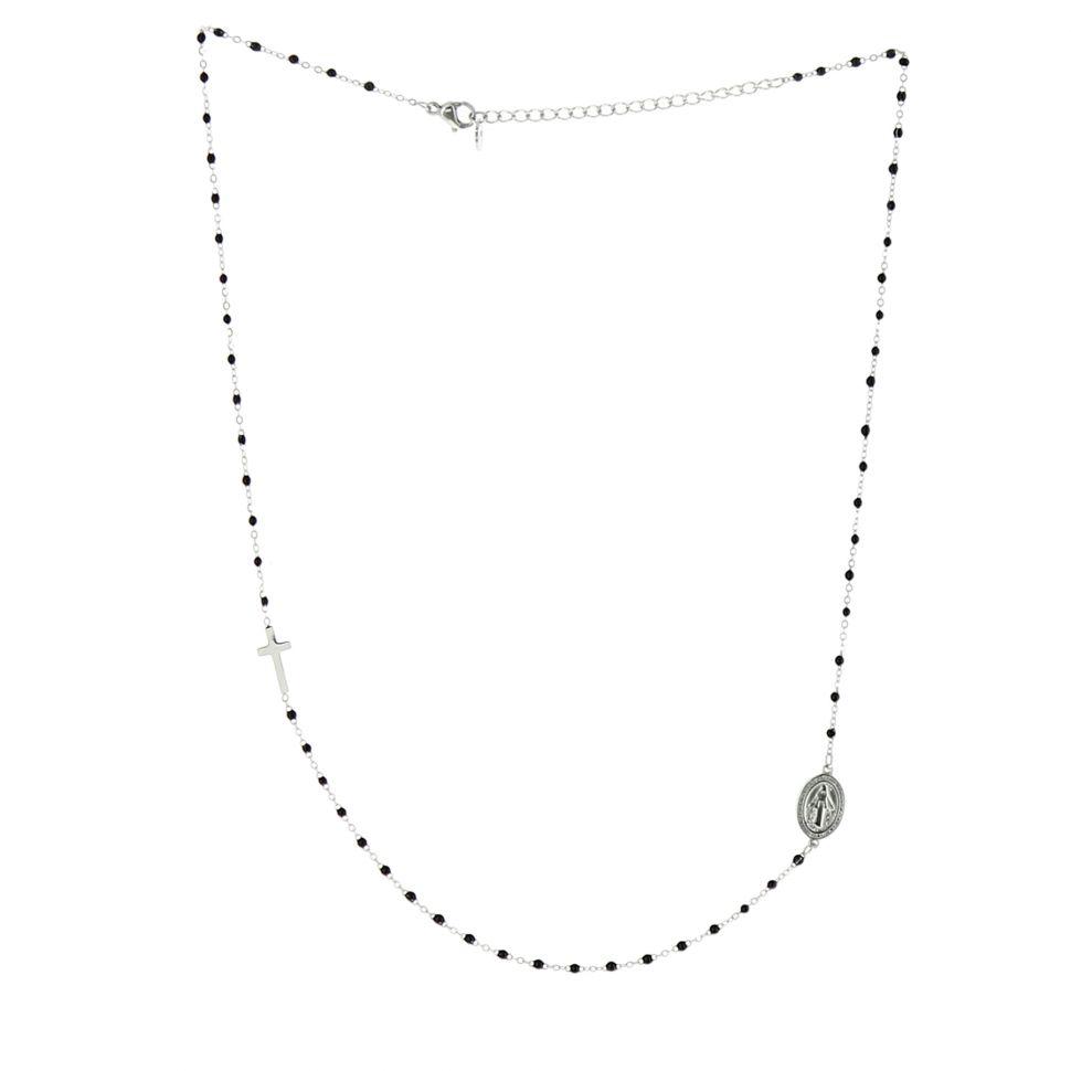 Collier femme acier inoxydable à perle LENA